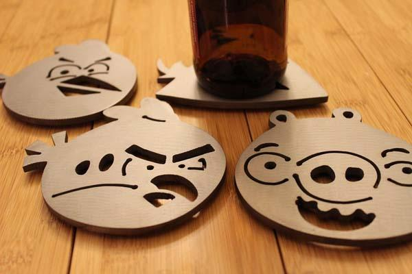 The Angry Birds Steel Drink Coaster Set