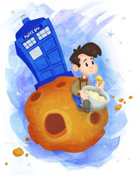 The Baby Doctor Who Art Print Set
