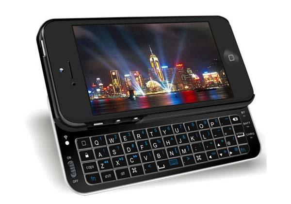 The Bluetooth Sliding iPhone 5 Keyboard Case