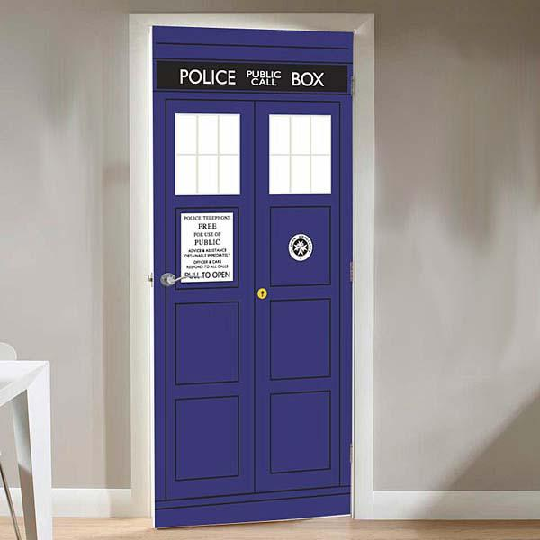 The Doctor Who TARDIS Door Cling