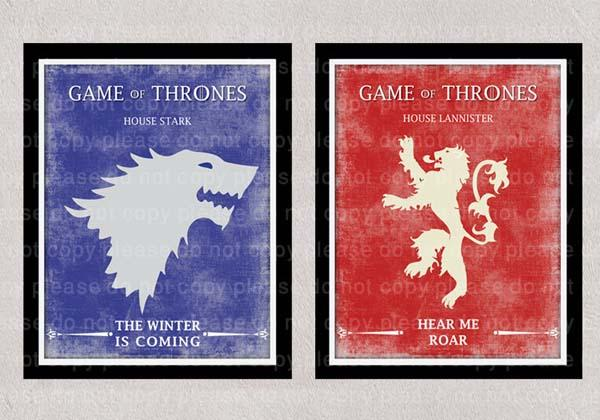 The Game of Throne Movie Poster Set