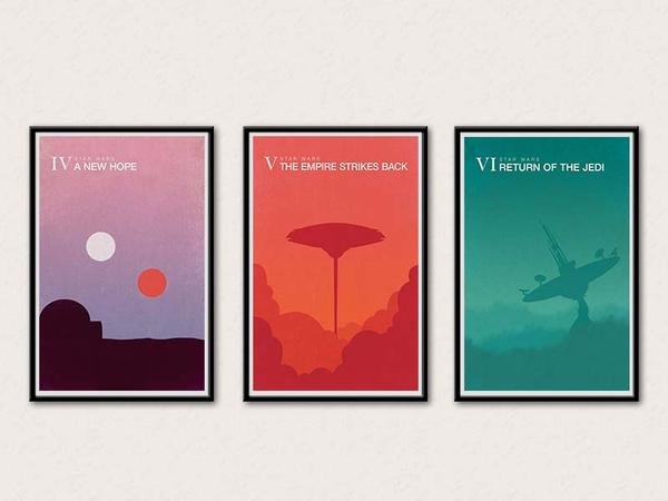 The Star Wars Minimalistic Poster Set