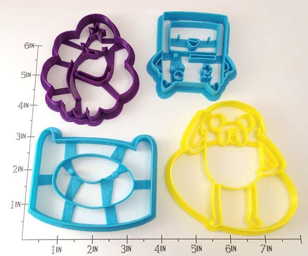 Adventure Time Ibspired Cookie Cutter Set