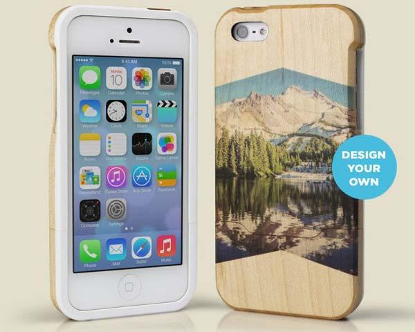 Grove Custom Wood Print iPhone 5s Case with Your Own Instagram Photo