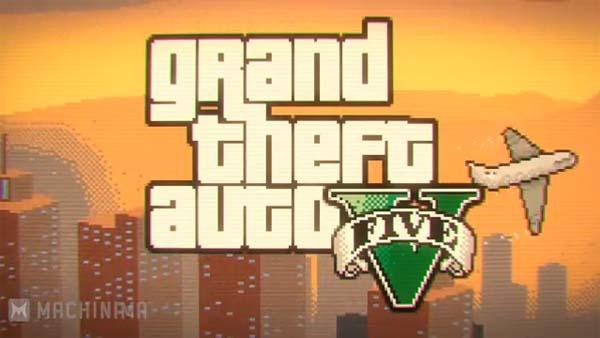 GTA 5 on SNES 16-Bit Game Trailer