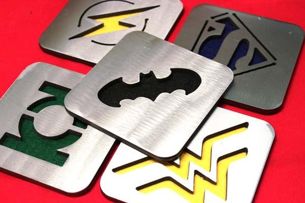 Justice League Steel Coaster Set