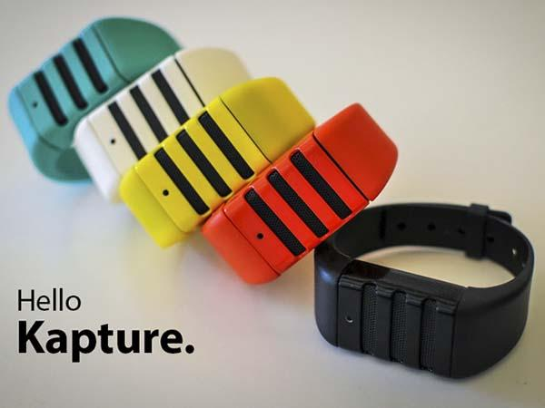 Kapture Always-On Audio-Recording Wristband