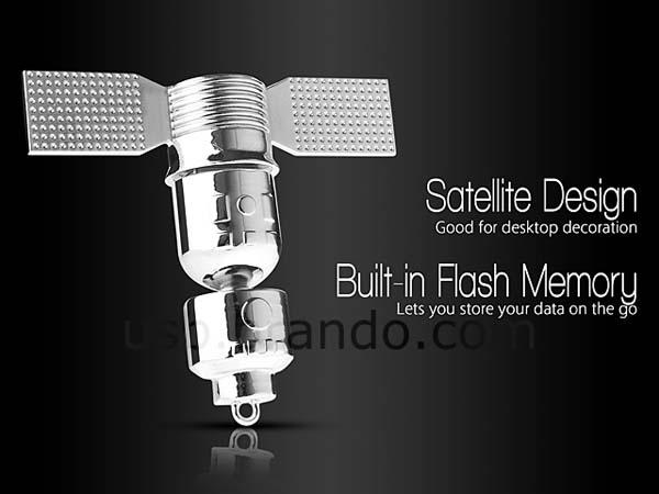 Metallic Satellite USB Flash Drive