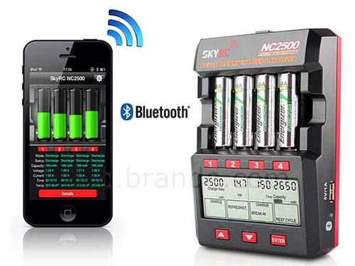 SkyRC NC2500 Bluetooth-Enabled AA/AAA Battery Charger and Analyzer