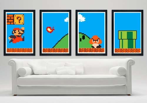 Super Mario Bros Custom Poster Set
