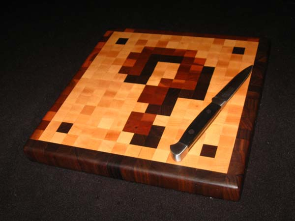 Super Mario Coin Block End-Grain Cutting Board