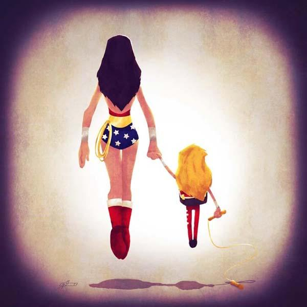 Superhero Families Art Prints