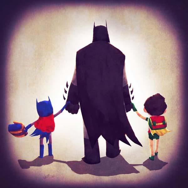 Superhero Families Art Prints