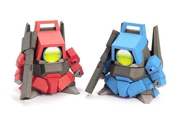 The Cute 5cm Gundam V4 Papercrafts