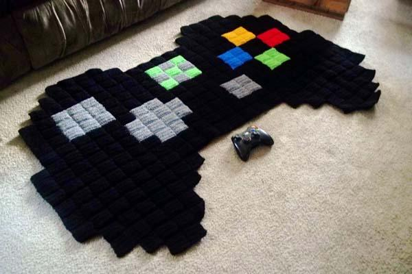 The Handmade 8-Bit Xbox Controller Rug