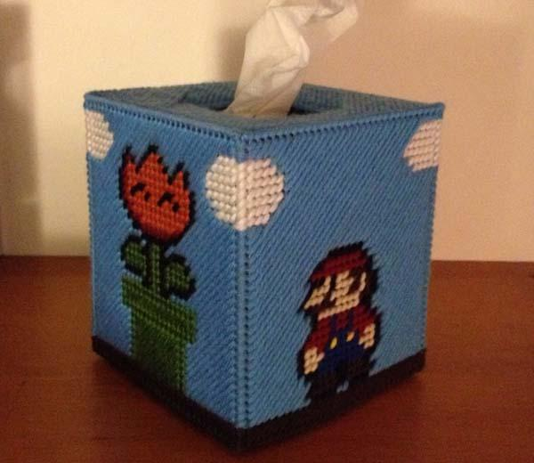 The Handmade Super Mario Bros Inspired Tissue Boxes