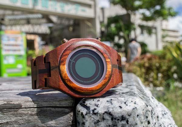 Tokyoflash Kisai Maru Wood LCD Watch