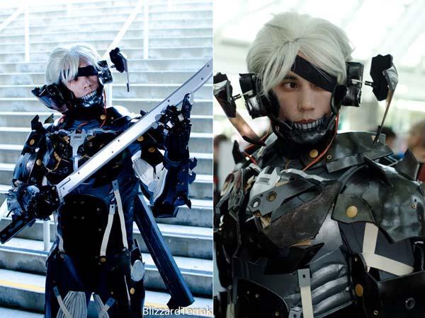 Amazing Cyborg Ninja Costume with Motorized Face Shield