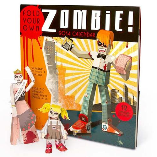 Build-a-Zombie Paper Craft 2014 Calendar