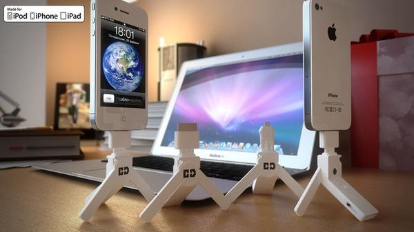 ChargeDrive Phone Charger with USB Drive and Phone Stand
