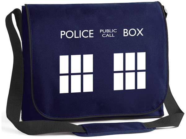 Doctor Who TARDIS Inspired Messenger Bag