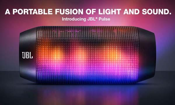 Jbl pulse bluetooth wireless speaker with programmable led for Led light bulb with built in bluetooth speaker