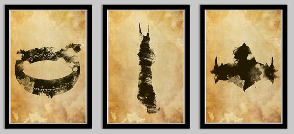 Lord of the Rings Poster Set