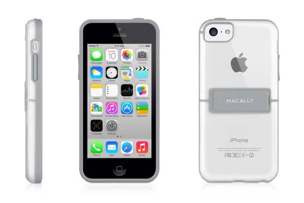 Macally Hard-Shell iPhone 5c Case with Stand