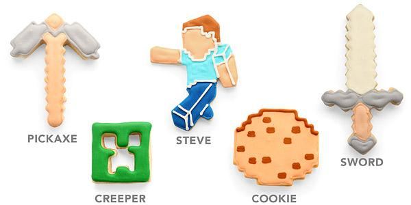 Minecraft Themed Cookie Cutter Set