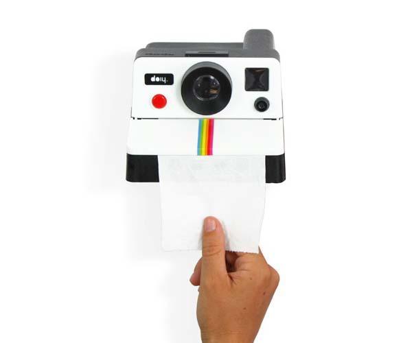 Polaroll A Polaroid Camera Inspired Toilet Paper Holder