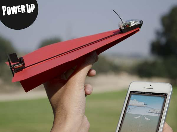 PowerUp 3.0 Turns Paper Airplane into Smartphone Controlled Flying Machine