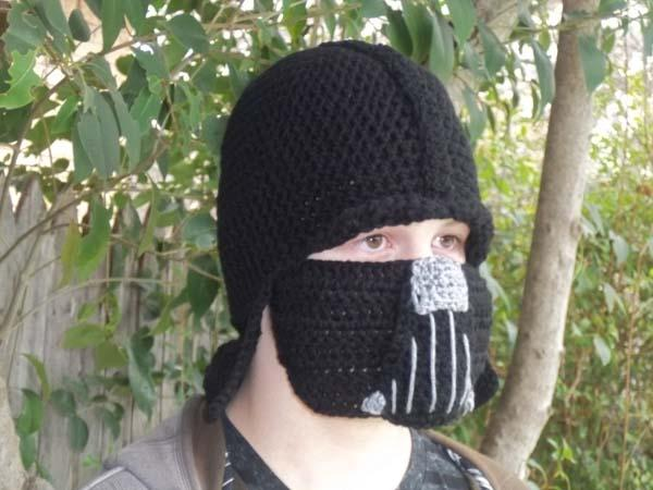 Star Wars Darth Vader Inspired Crochet Beanie Hat
