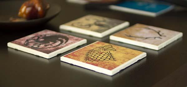 The Game of Thrones Ceramic Coaster Set