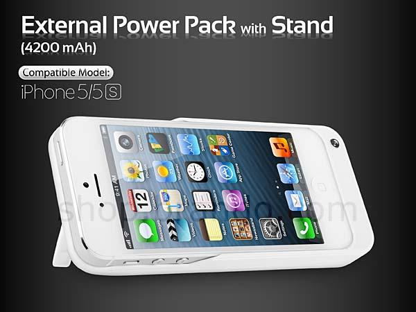 The iPhone 5s Battery Case with iPhone Stand