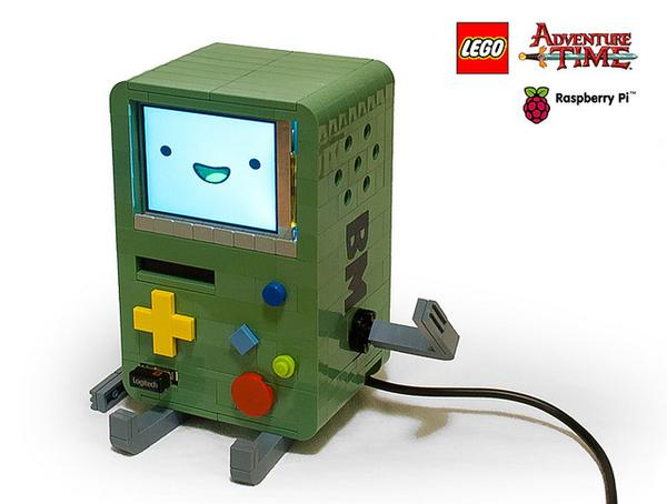 The LEGO Adventure Time BMO Powered by Raspberry Pi