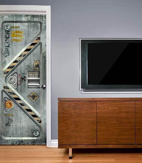The Sci-Fi Themed Door Decals