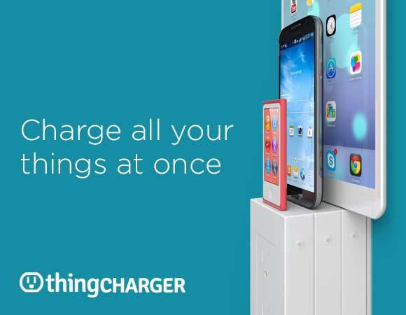 thingCHARGER Wall Outlet Charging Dock for Smartphones and Tablets