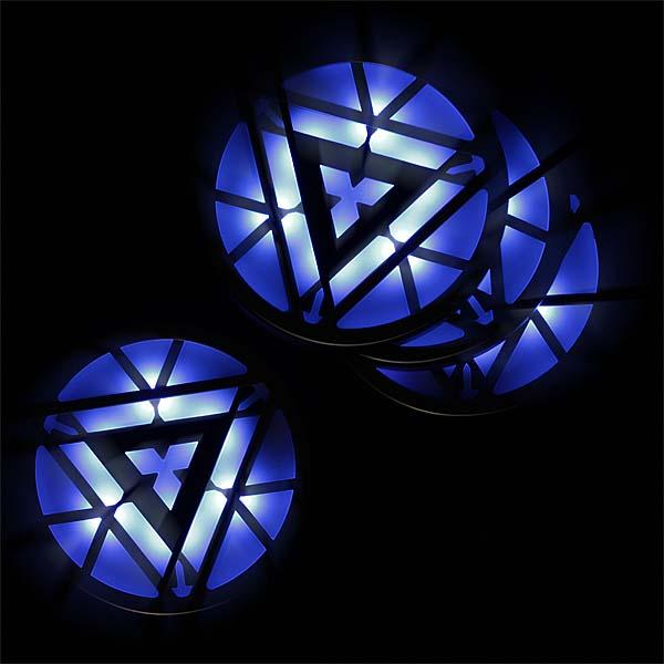 Iron Man 3 Arc Reactor Light-Up Coaster Set