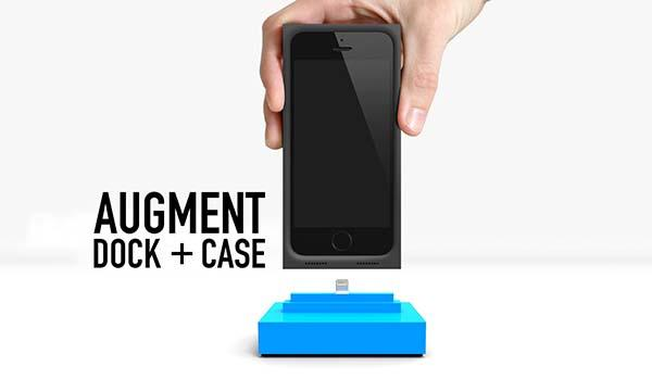 The Augment iPhone 5s Case and iPhone Dock