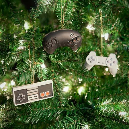 The Classic Video Game Controller Ornament Set