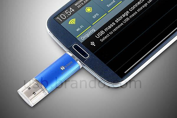 The Micro USB 2-In-1 OTG Card Reader