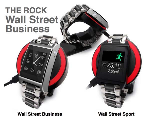 The Rock Smart Watch with Wireless Charging