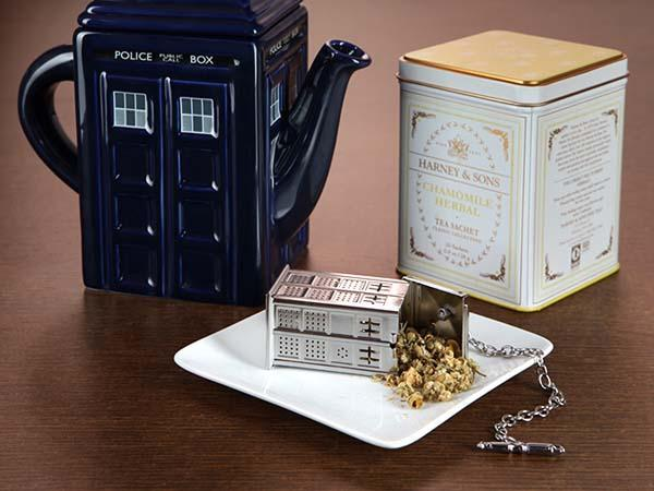 The Silver Doctor Who TARDIS Tea Infuser