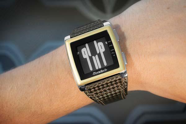 Tokyoflash Kisai Rorschach E-Ink Watch