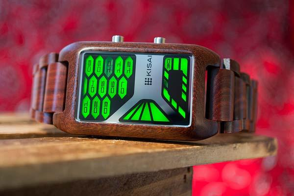 Tokyoflash Kisai Console Wood LED Watch
