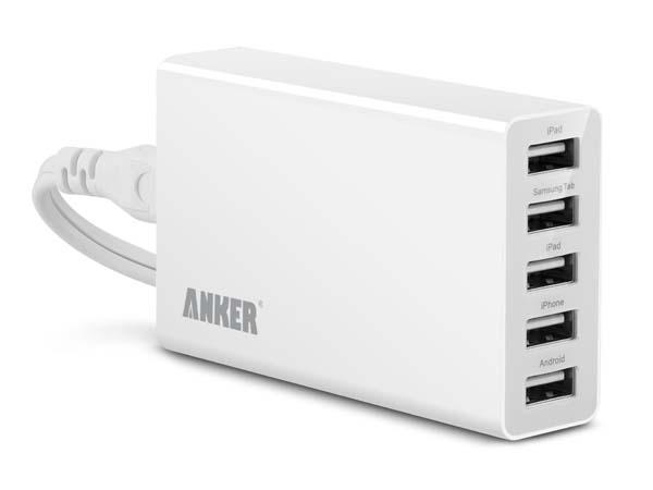 Anker 25W 5-Port Desktop USB Charger