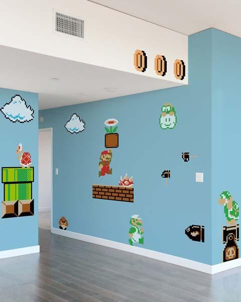 Blik wall decals new super mario bros re stik by nintendo rachael edwards - Mario wall clings ...