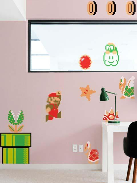 Blik super mario bros re stik wall decals gadgetsin - Mario wall clings ...