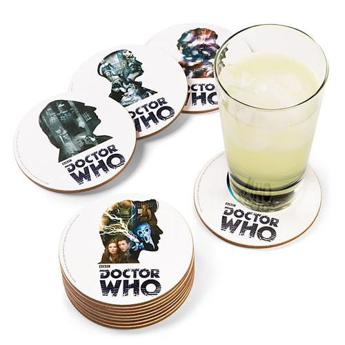 Doctor Who 12 Doctor Drink Coaster Set