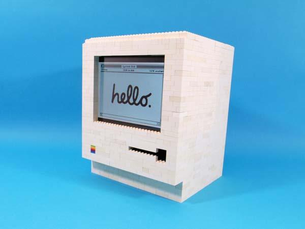LEGO Apple Macintosh iPad Stand